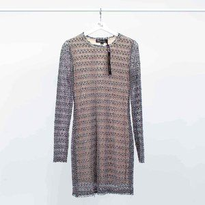 Winter Kate Sheer Knit Dress with Sequins